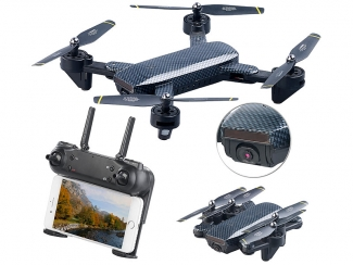 Faltbarer WiFi-FPV-Quadrocopter, Drohne HD-Cam und VGA-Cam, Optical Flow, App