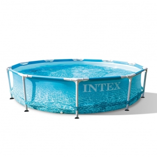 Intex Beachside Metal Frame Pool 305 x 76 cm Inkl. Filterpumpe Neuheit 2021
