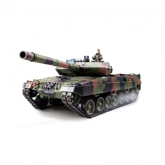 "RC Panzer ""Leopard 2 A6"" 2.4GHz M 1:16 R&S, Metallgetriebe Heng Long Torro - Edition"
